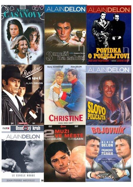 9 x Alain Delon DVD