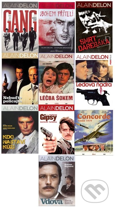 10 x Alain Delon DVD