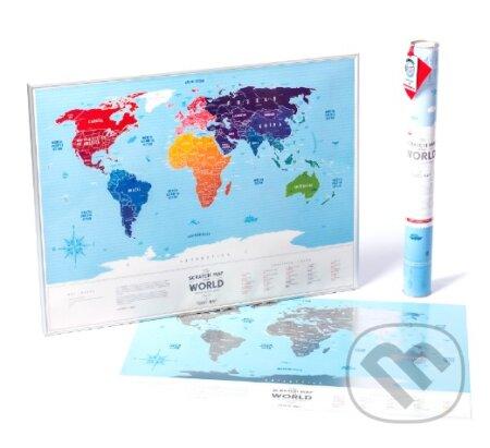 Stírací mapa Evropy / Travel Map of the Europe Silver -