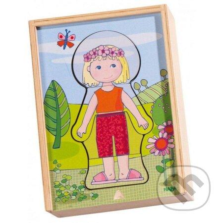 Kombinačné puzzle Obliekame Lili -