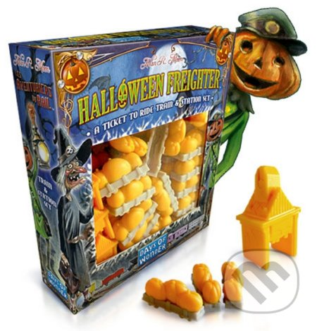 Ticket to Ride: Halloween Freighter Train & Station Set - Alan R. Moon