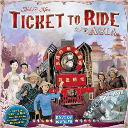 Ticket to Ride Map Collection: Asia - Alan R. Moon, François Valentyne