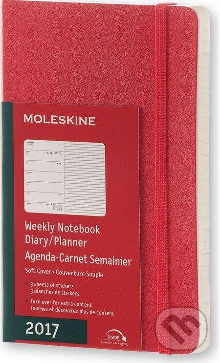 Moleskine – 12-mesačný červený plánovací diár 2017 -