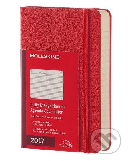 Moleskine – 12-mesačný červený diár 2017 -
