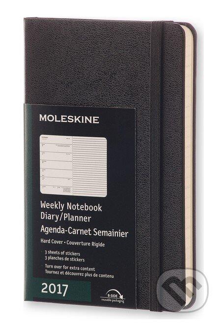 Moleskine – 12-mesačný čierny plánovací diár 2017 -
