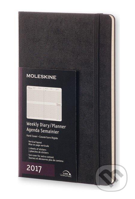 Moleskine – 12-mesačný čierny diár 2017 -