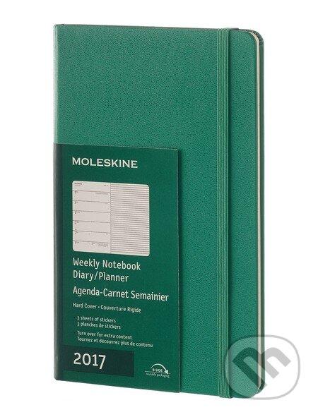 Moleskine – 12-mesačný zelený plánovací diár 2017 -