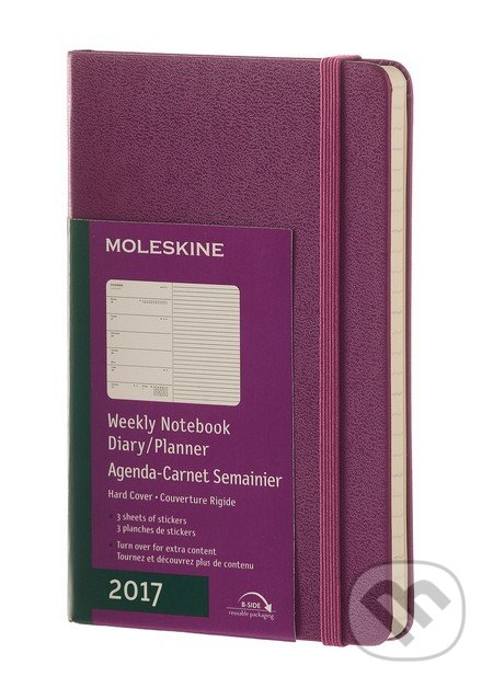 Moleskine – 12-mesačný fialový plánovací diár 2017 -