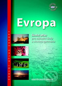Evropa - Školní atlas -