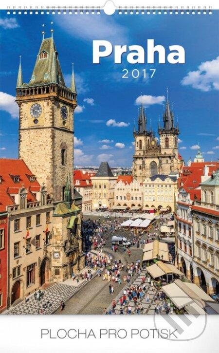 Kalendář nástěnný 2017 - Praha -