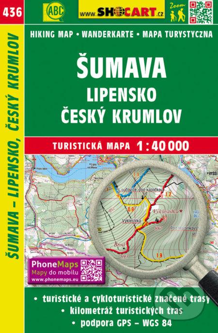 Šumava, Lipensko, Český Krumlov 1:40 000 -