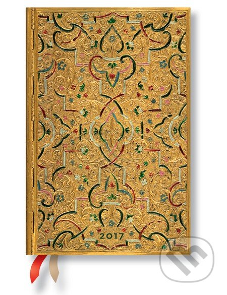Paperblanks - diár Gold Inlay 2017 -