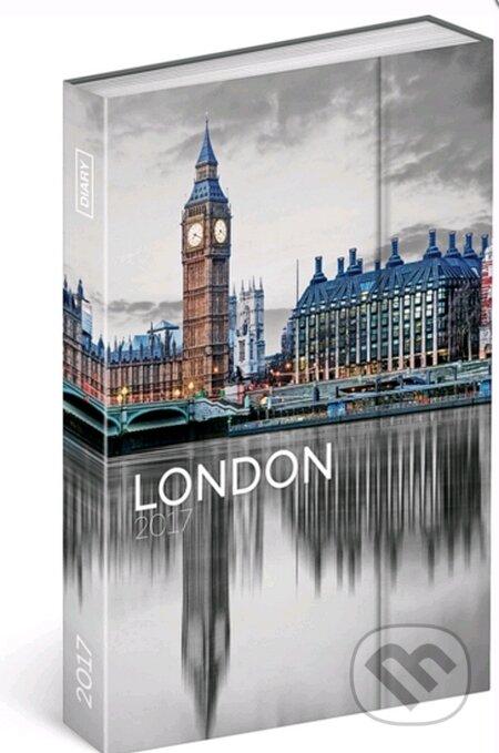 Diář 2017 - Londýn - týdenní -