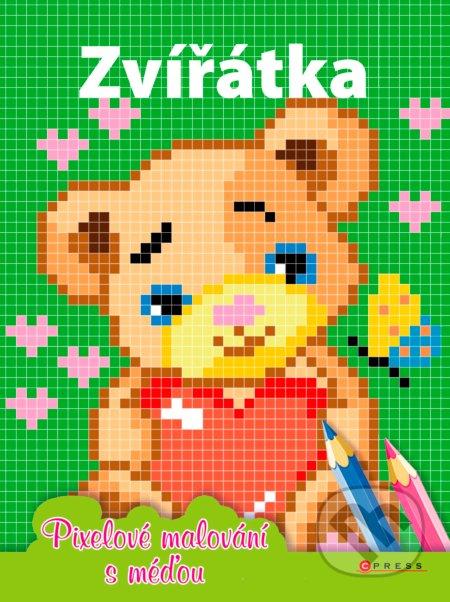 Zvířátka: Pixelové malování s méďou -