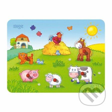 Hudobné vkladacie puzzle Farma -
