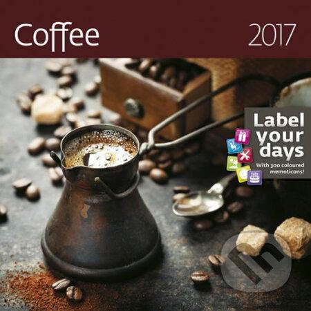 Kalendář nástěnný 2017 - Coffee -