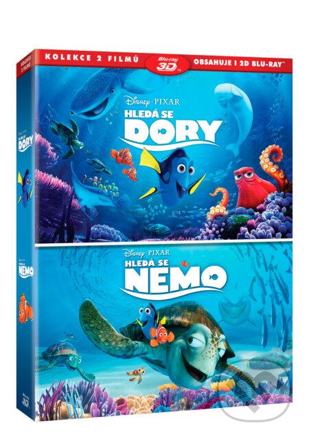 Hledá se Nemo + Hledá se Dory kolekce BLU-RAY3D