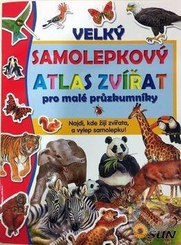 Velký samolepkový atlas zvířat -