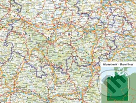 Nástěnná mapa Německo 1:700 000 -