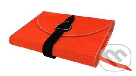 Variabilný obal na knihu z pravej kože so sponou (Červená tehlová) -