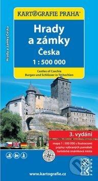 Hrady a zámky Česka 1:500 000 -