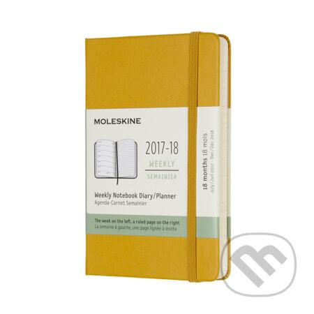 Moleskine – 18-mesačný plánovací zápisník žltý 2017/2018 -
