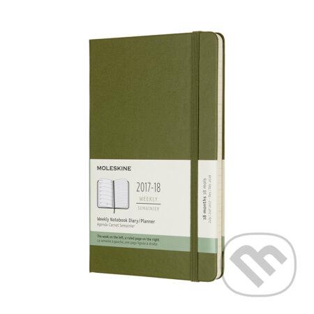 Moleskine – 18-mesačný plánovací zápisník zelený 2017/2018 -