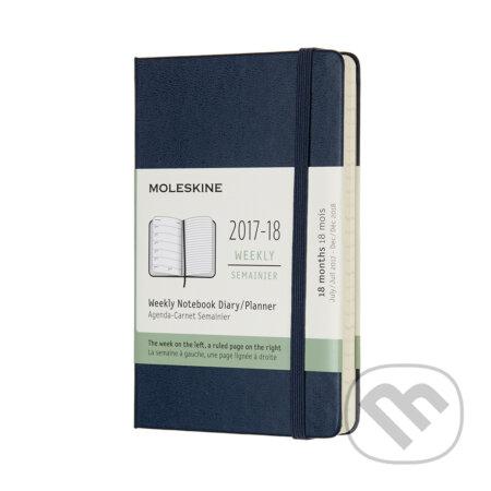 Moleskine – 18-mesačný plánovací zápisník modrý 2017/2018 -