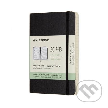Moleskine – 18-mesačný plánovací zápisník čierny 2017/2018 -