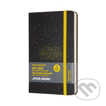 Moleskine – 18-mesačný plánovací zápisník Star wars čierny 2017/2018 -