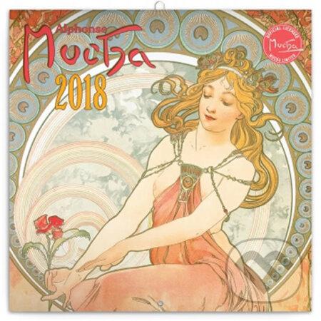 Kalendář poznámkový 2018 - Alfons Mucha -