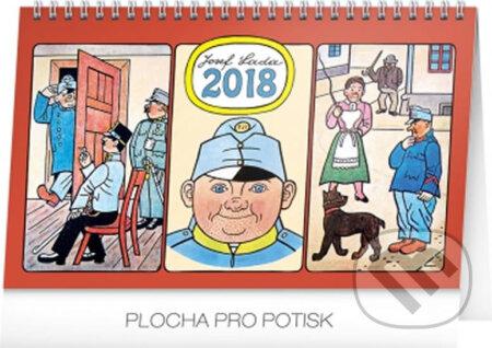 Kalendář stolní 2018 - Josef Lada – Švejk -