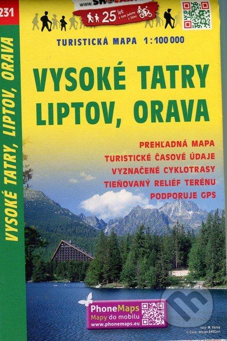 Vysoké Tatry, Liptov, Orava 1:100 000 -