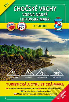 Chočské vrchy - Vodná nádrž Liptovská Mara 1:50 000, turistická mapa č. 111 -