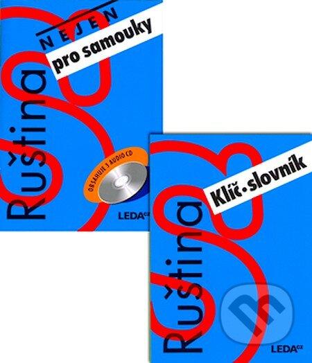 Ruština nejen pro samouky učebnice + klíč + 3 CD -