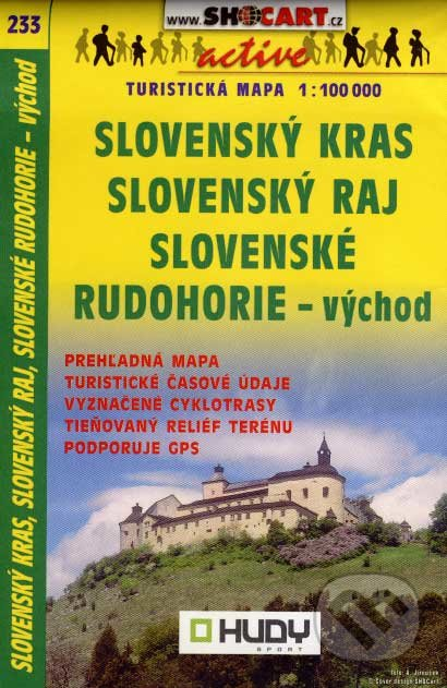 Slovenský kras, Slovenský raj, Slovenské rudohorie - východ 1:100 000 -