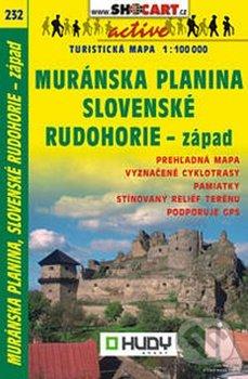 Muránska planina, Slovenské rudohorie - západ 1:100 000 -