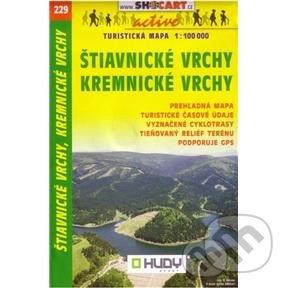 Štiavnické vrchy, Kremnické vrchy 1: 100 000 -