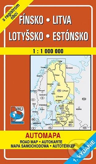 Fínsko, Litva, Lotyšsko, Estónsko 1:1 000 000 -