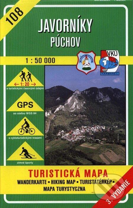 Javorníky - Púchov - turistická mapa č. 108 - Kolektív autorov