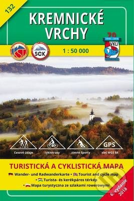 Kremnické vrchy - turistická mapa č. 132 - Kolektív autorov