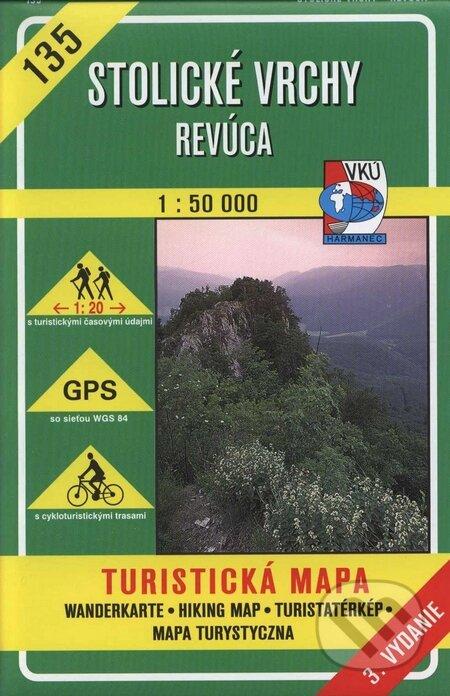Stolické vrchy - Revúca - turistická mapa č. 135 - Kolektív autorov