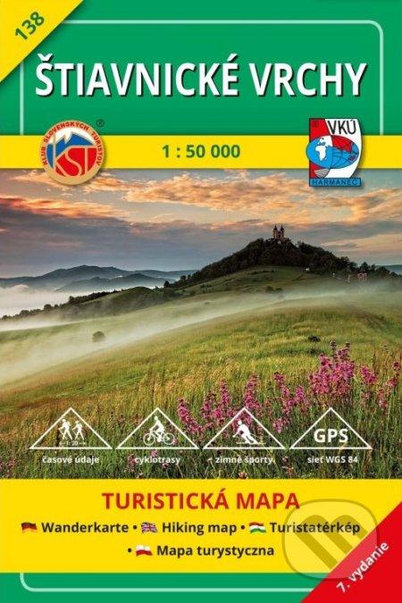 Štiavnické vrchy - turistická mapa č. 138 - Kolektív autorov