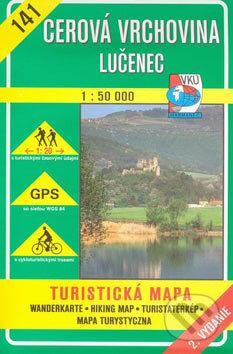 Cerová vrchovina Lučenec 1:50 000 - turistická mapa č. 141 - Kolektív autorov