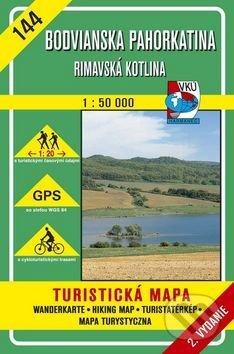 Bodvianska pahorkatina - Rimavská kotlina - turistická mapa č. 144 - Kolektív autorov