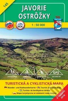 Javorie - Ostrôžky - turistická mapa č. 145 - Kolektív autorov