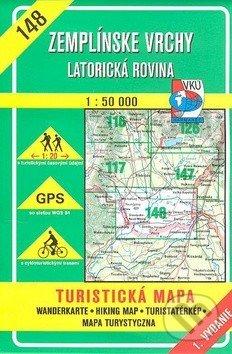 Zemplínske vrchy - Latorická rovina - turistická mapa č. 148 - Kolektív autorov