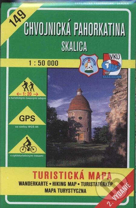 Chvojnická pahorkatina - Skalica - turistická mapa č. 149 - Kolektív autorov