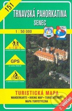 Trnavská pahorkatina - Senec - turistická mapa č. 151 - Kolektív autorov