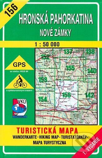 Hronská pahorkatina - Nové Zámky - turistická mapa č. 156 - Kolektív autorov